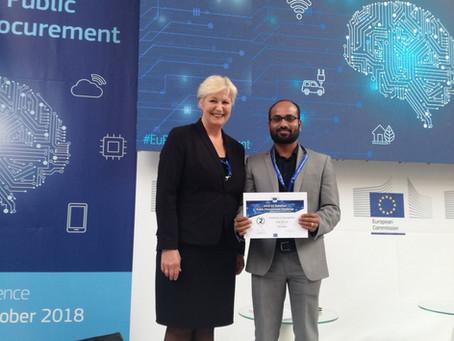 PublicBI UG Awarded at Digital Transformation in Public Procurement Conference, Lisbon
