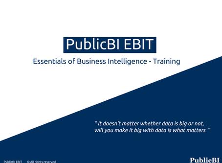 PublicBI EBIT launched - A crash course on BI