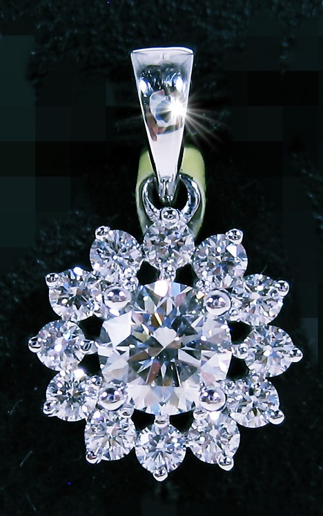 18K WG DIAMOND PENDANT