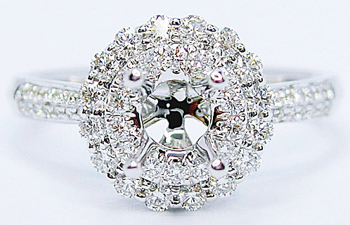18K WG DIAMOND RING MOUNT