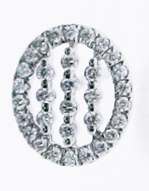 14K WG DIAMOND EARRING