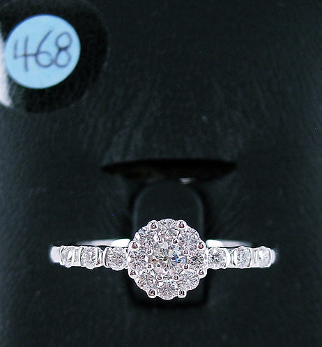 18K WG DIAMOND RING