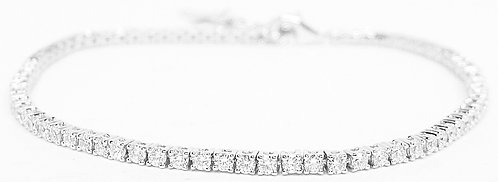 18K WG DIAMOND TENNIS BRACELET