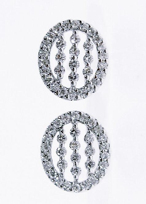 8K WG DIAMOND EARRING