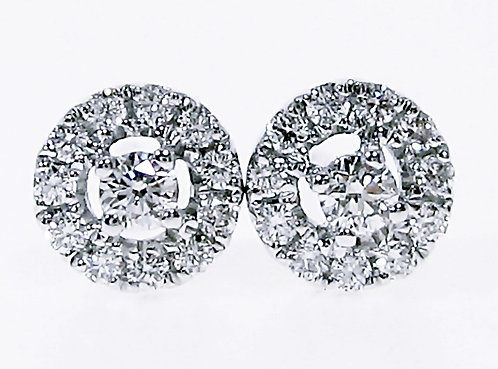 18K WG DIAMOND EARRING