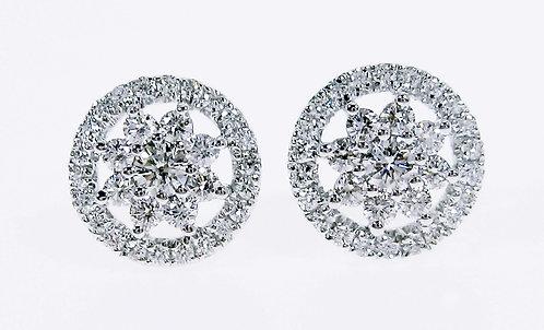 18K WG DIAMOND EARRING