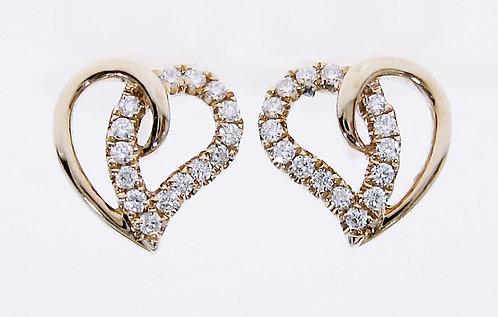 18K RG DIAMOND EARRING