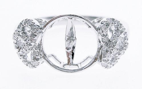 18K WG PEARL DIAMOND RING MOUNT