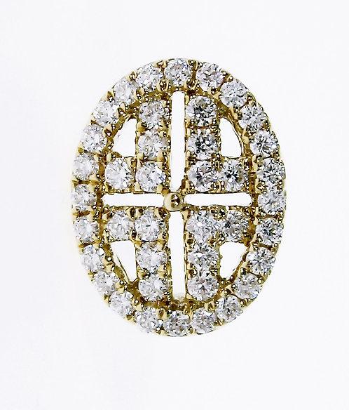 18K YG DIAMOND EARRING