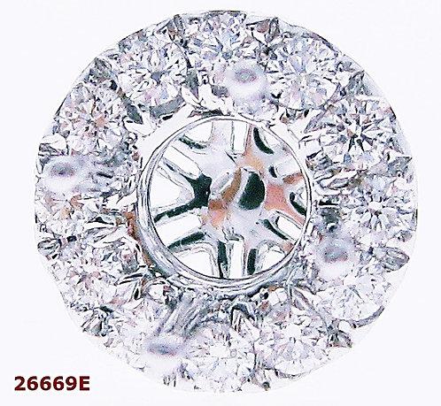 18K WG DIAMOND EARRING MOUNT