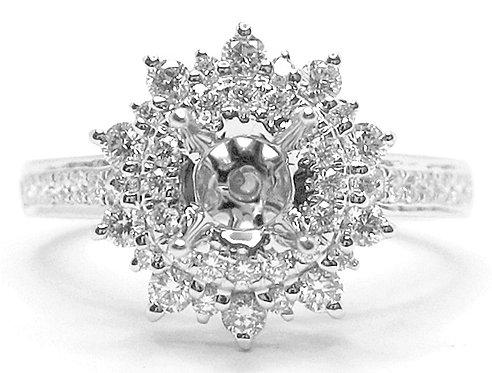 18K WG DIAMOND RING MOUNT