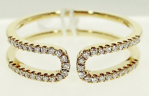 18K YG DIAMOND RING