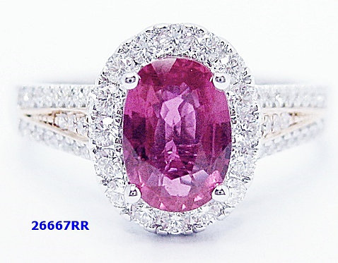 18K W/RG RUBY DIAMOND RING