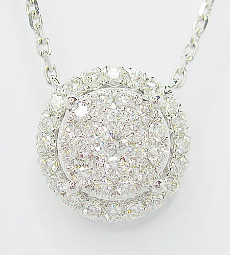 18K WG DIAMOND NECKLACE