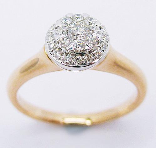 18K R/W DIAMOND RING
