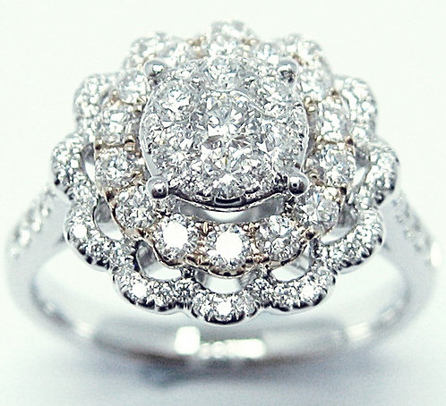 18K R/WG DIAMOND RING