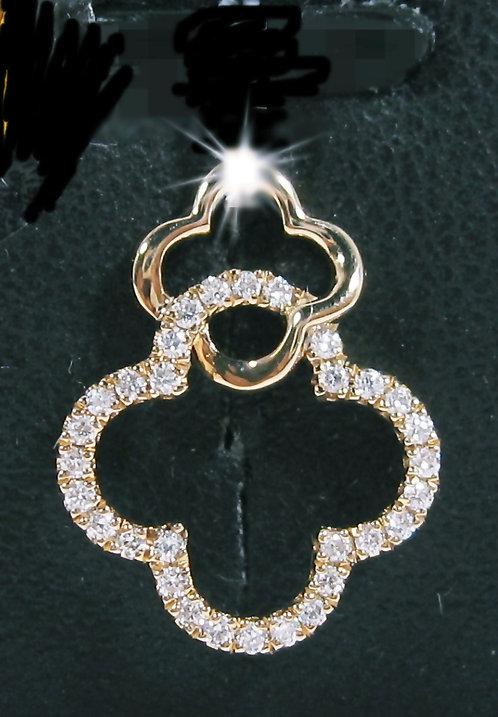 18K RG DIAMOND PENDANT