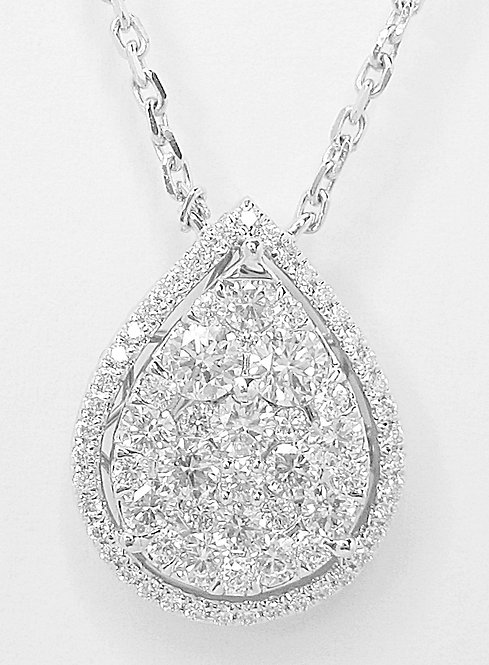 18K WG DIAMOND NECKLACE