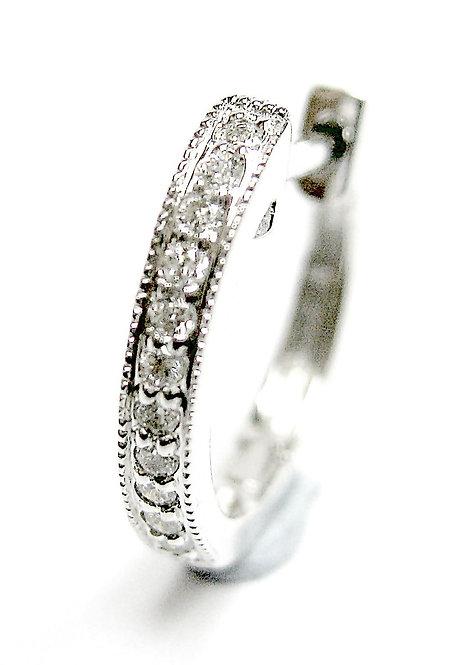 14K white gold diamond earring hooks