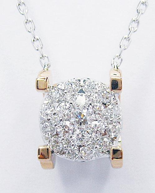 18K R/WG DIAMOND NECKLACE