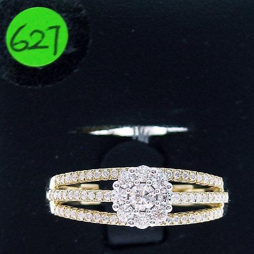 18K YW DIAMOND RING