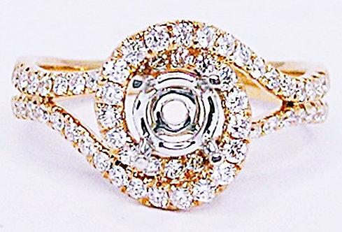 18K RG DIAMOND RING MOUNT