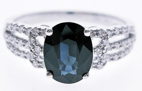 14K WG SAPPHIRE DIAMOND RING