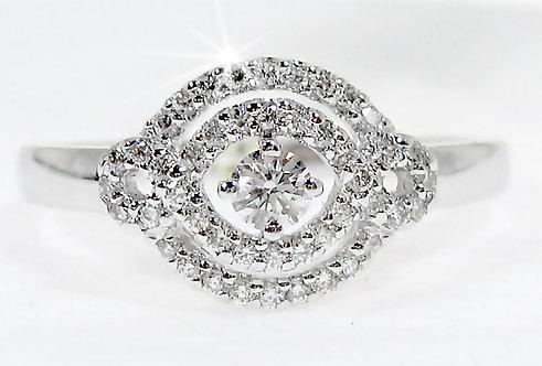 18K WG DIAMOND RING