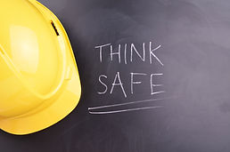 Work Place Safety Concept with safety eq