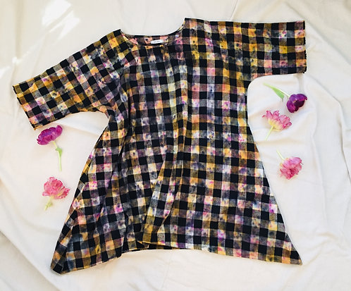Tie Dyed Flannel Dress
