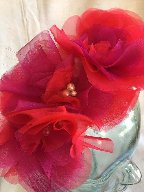 Bloom Headband - Red/Magenta