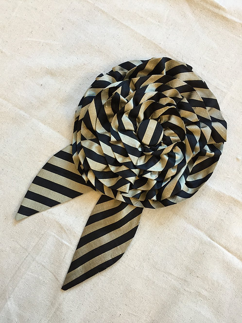 Striped Brooch - Oversized Large