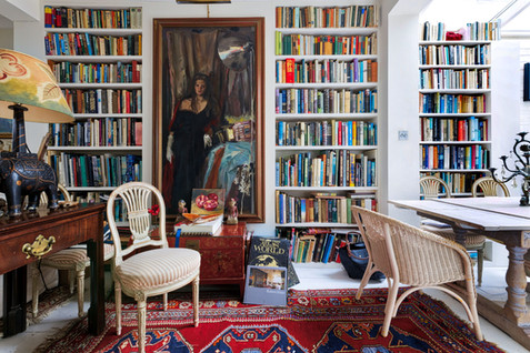 library in small house