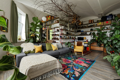 lounge with lots of plants