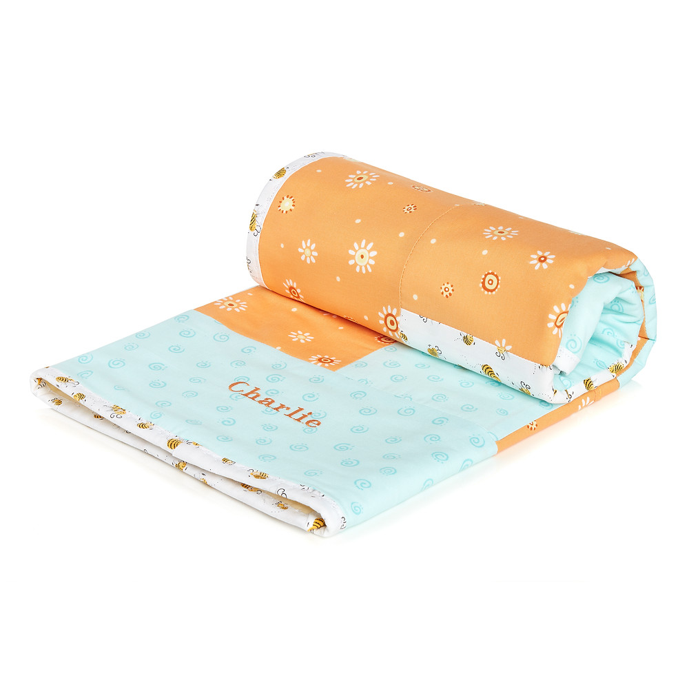 Personalised Baby Blanket with FREE Tigger toy.