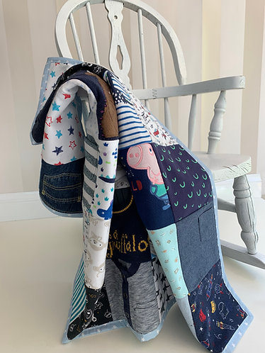 Memory Blanket Sewing Kit made from Baby clothes