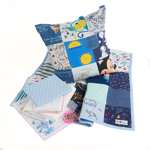 Memory Cushion or Blanket Sewing Kit made from Baby clothes