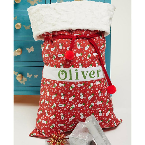 Large Luxury Christmas Sack and stockings with Fur Top