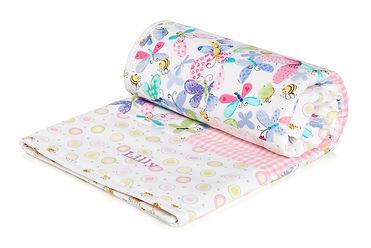Pink Personalised Baby Blanket