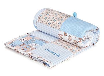 Blue Personalised Baby Blanket