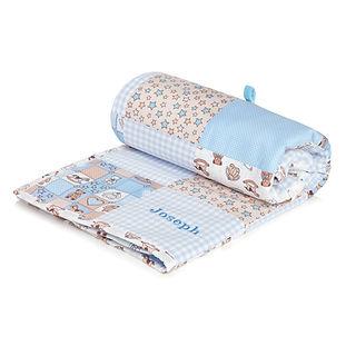 blue Personalised Blanket