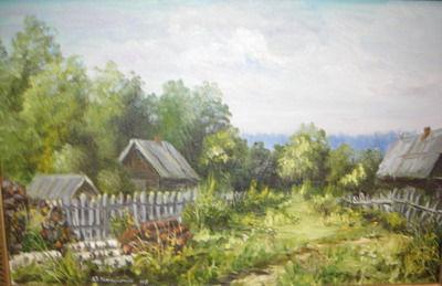 «Летние мотивы» , выставка ЮРИЯ КАМУШКИНА