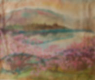 """выставка живописи Галины РОМАНОВОЙ """"Встающий день надежду нам вселяет""""."""