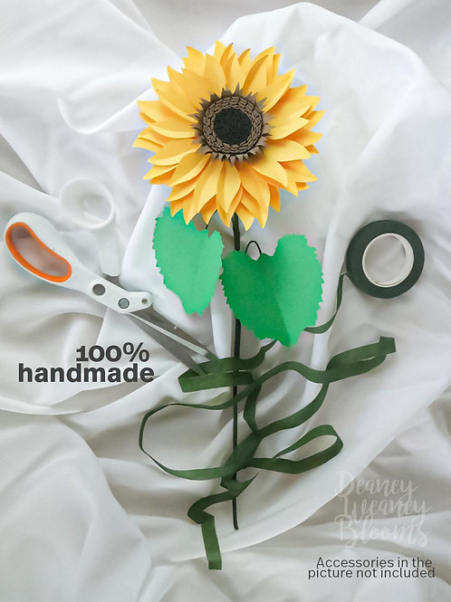 6- inch paper sunflower stem