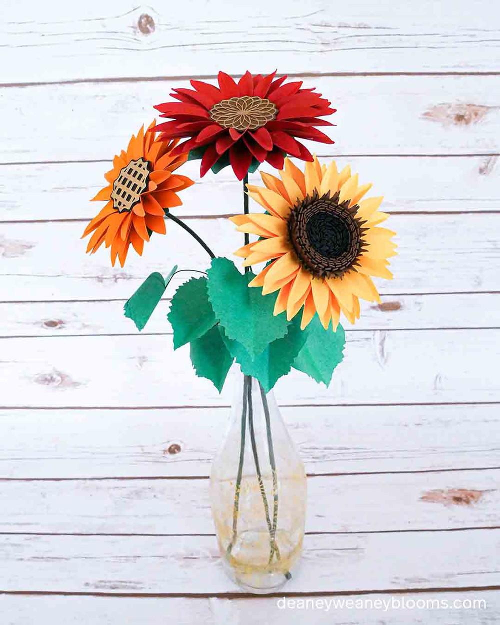 Paper sunflower stems