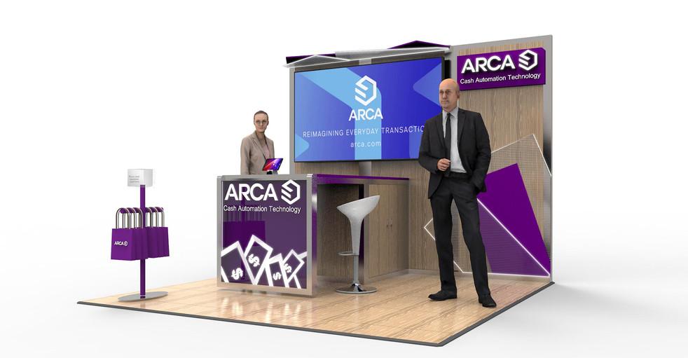 Conceptual design for a 10 x 10 modular booth
