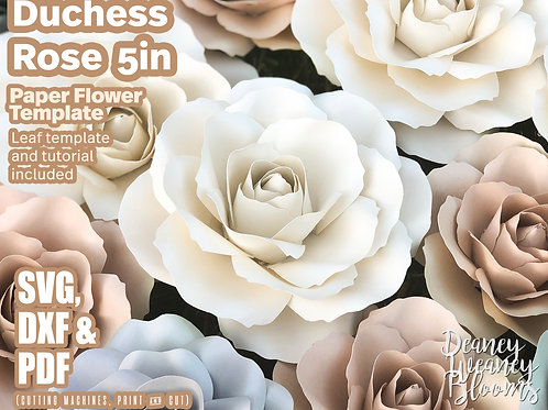 5-in Duchess paper rose template