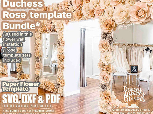 Duchess Paper Rose template bundle