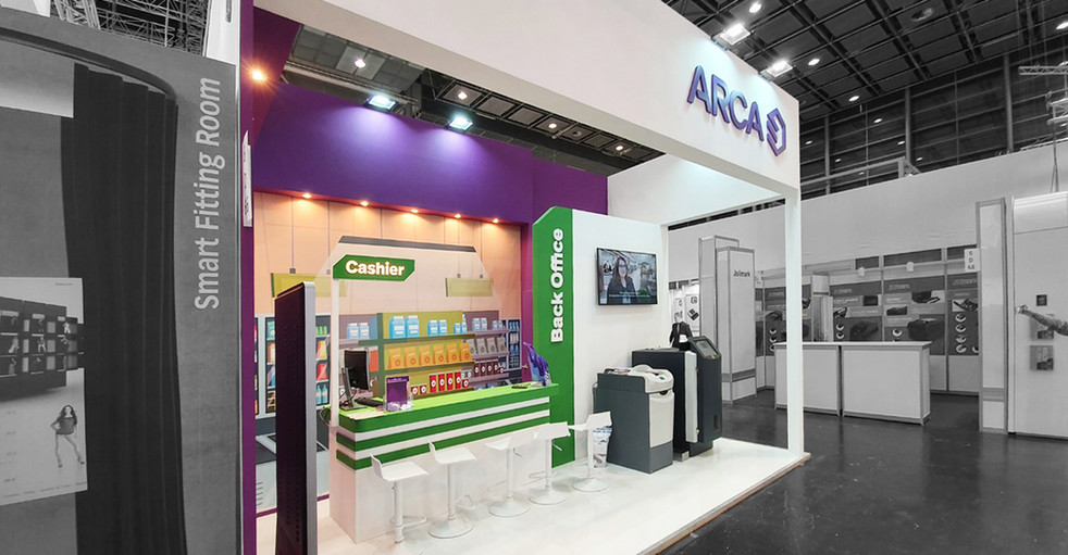 ARCA's booth for IAAPA 2020