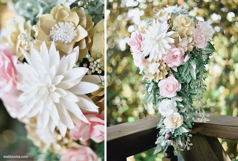 Cascading bridal bouquet